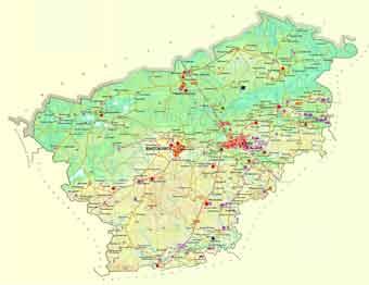 Карта Клинского района